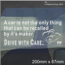1 x A Car is not only thing that can be Recalled by it's Maker-Car Window Sticker-Road Safety-Fun,God,Creator,Self Adhesive Vinyl Sign for Truck,Van,Vehicle